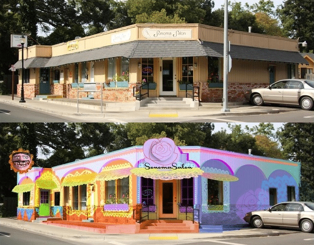 Rebranding a Commercial Neighborhood with Paint and Sensibility